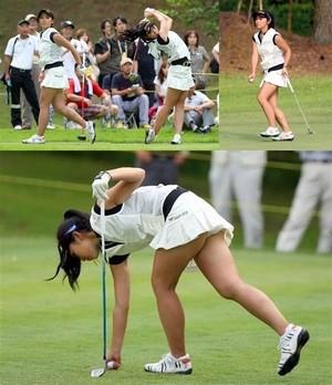 ゴルフ場のパンチラの多さに思わずフル勃起しちまった件wwww