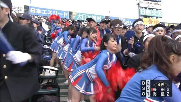 【10代小娘・高校野球2016春】毎年春にチンポを叩き起こしてくれる10代小娘チアガールのドスケベ下半身wwwww(パンチラエロキャプ画像画像あり)
