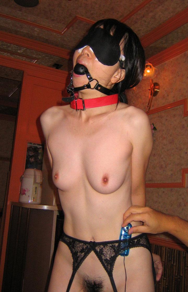 【SM】口枷・目隠し・調教してドM雌豚にしていくの楽しすぎwwwwww(画像あり)