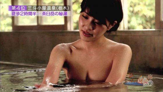 岸明日香、橋本マナミ他が温泉入浴でたわわな巨乳おっぱいを披露してくれる神番組wwwww(TVエロキャプ画像あり)