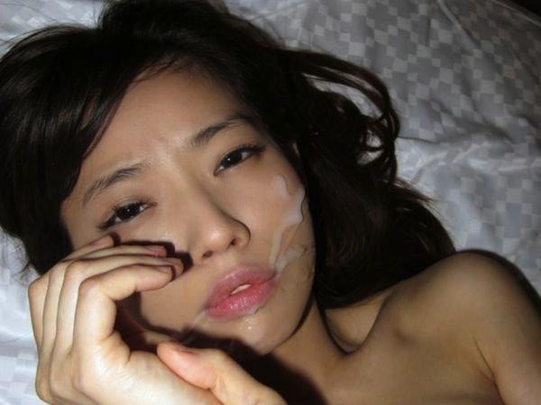 顔射ぶっかけされてる素人娘のハメ撮りエロ画像20枚