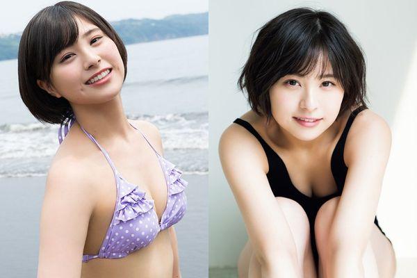 AKB48のチーム8佐藤栞の初めての水着グラビア